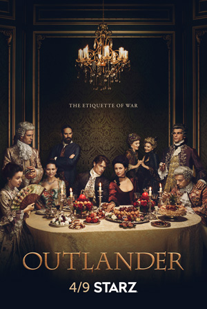 Outlander season 2 poster Starz channel