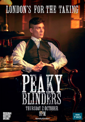 Peaky Blinders season 2 poster BBC Two channel