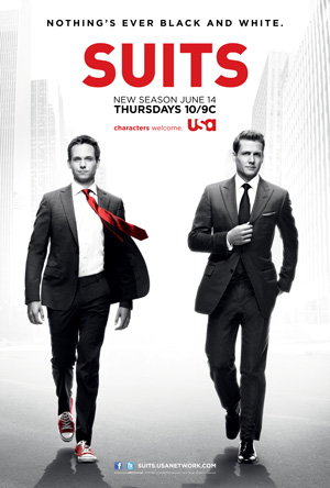 Suits season 2 poster USA Network channel