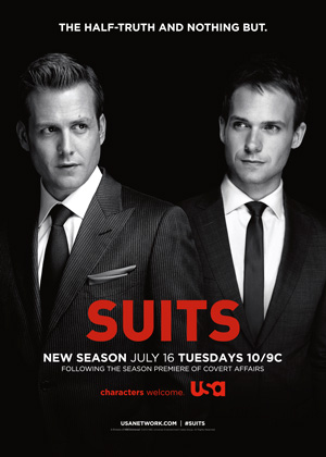 Suits season 3 poster USA Network channel