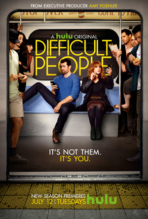 Difficult People season 2 poster Hulu channel