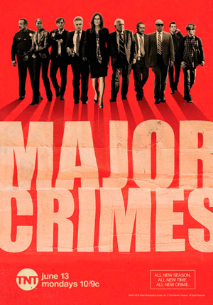 Major Crimes season 5 poster TNT channel