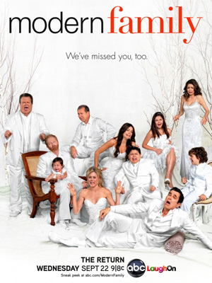 Modern Family season 2 poster ABC channel
