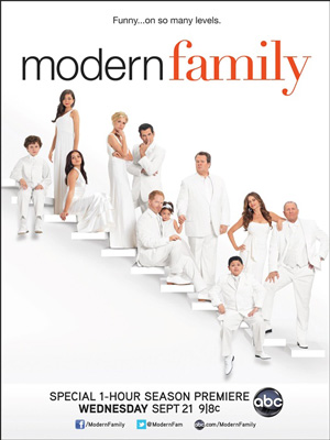 Modern Family season 3 poster ABC channel