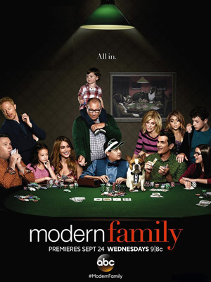 Modern Family season 6 poster ABC channel