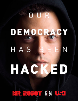 Mr Robot season 1 poster USA Network channel
