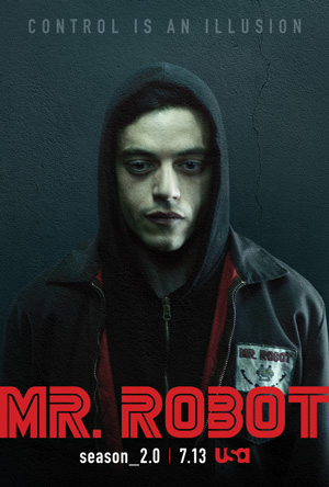 Mr Robot season 2 poster USA Network channel