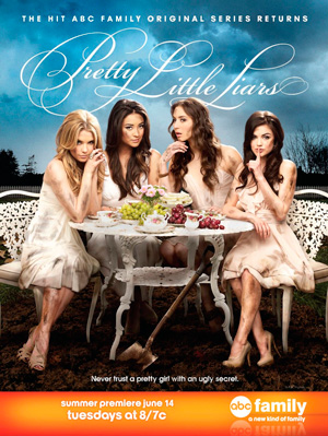 Pretty Little Liars season 2 poster Freeform ABC Family channel