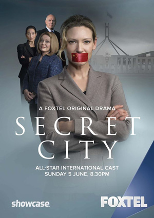 Secret City season 1 poster Showcase Australia channel