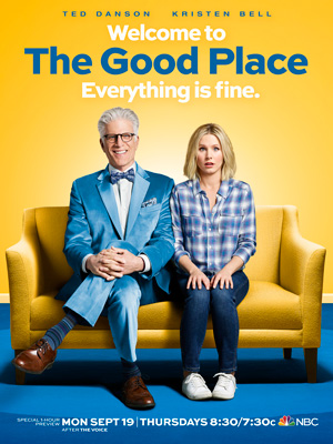 The Good Place season 1 poster NBC channel