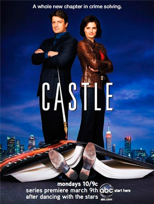 Castle season 1 poster ABC channel