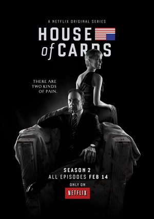 House of Cards season 2 poster Netflix channel