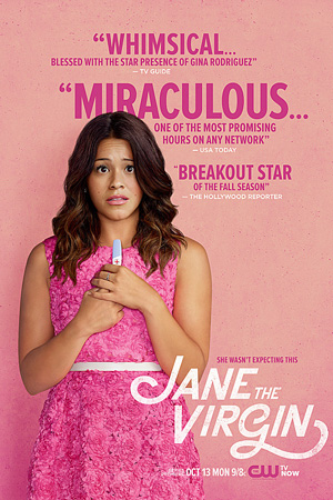Jane the Virgin season 1 poster The CW channel