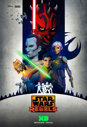 Star Wars Rebels season 3 poster Disney XD channel