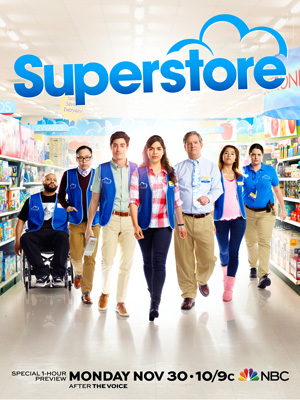 Superstore season 1 poster NBC channel