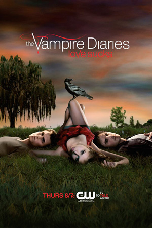 The Vampire Diaries season 1 poster The CW channel