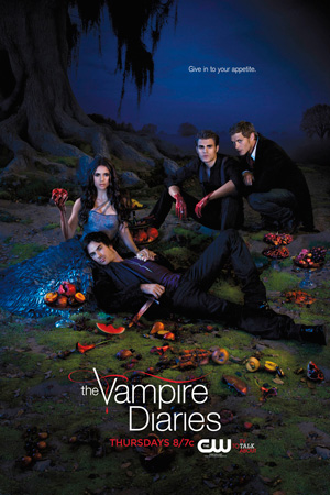 The Vampire Diaries season 3 poster The CW channel