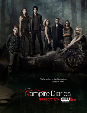 The Vampire Diaries season 4 poster The CW channel