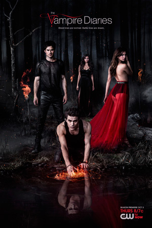 The Vampire Diaries season 5 poster The CW channel