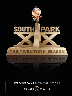 South Park season 20 poster Comedy Central channel