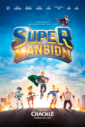 Supermansion season 1 poster Crackle channel