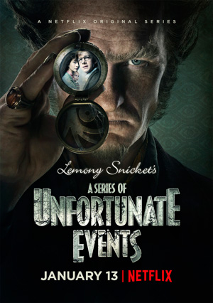 A Series of Unfortunate Events season 1 poster Netflix channel