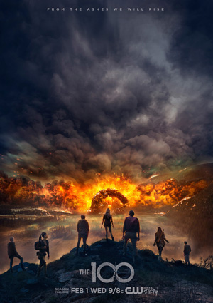 The 100 season 4 poster The CW channel