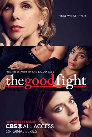 The Good Fight CBS channel poster key art