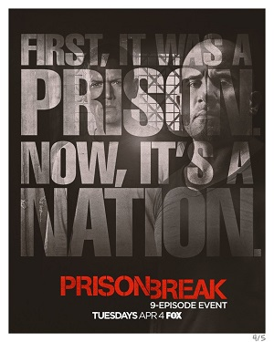Prison Break season 5 poster FOX channel