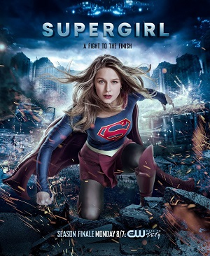 Supergirl season 2 poster The CW channel