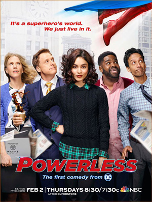 Powerless poster season 1 NBC channel