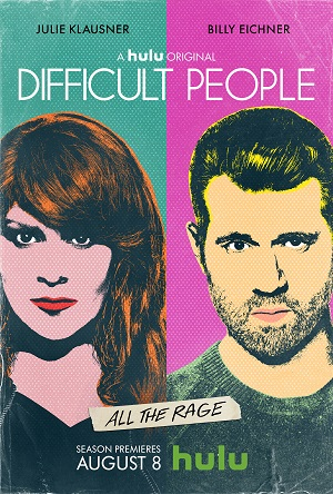 Difficult People season 3 poster Hulu channel