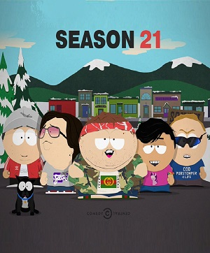South Park season 21 poster Comedy Central channel