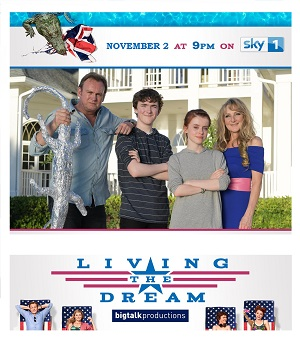 Living The Dream season 1 poster Sky 1 channel