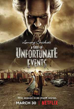 A Series of Unfortunate Events season 2 poster Netflix channel
